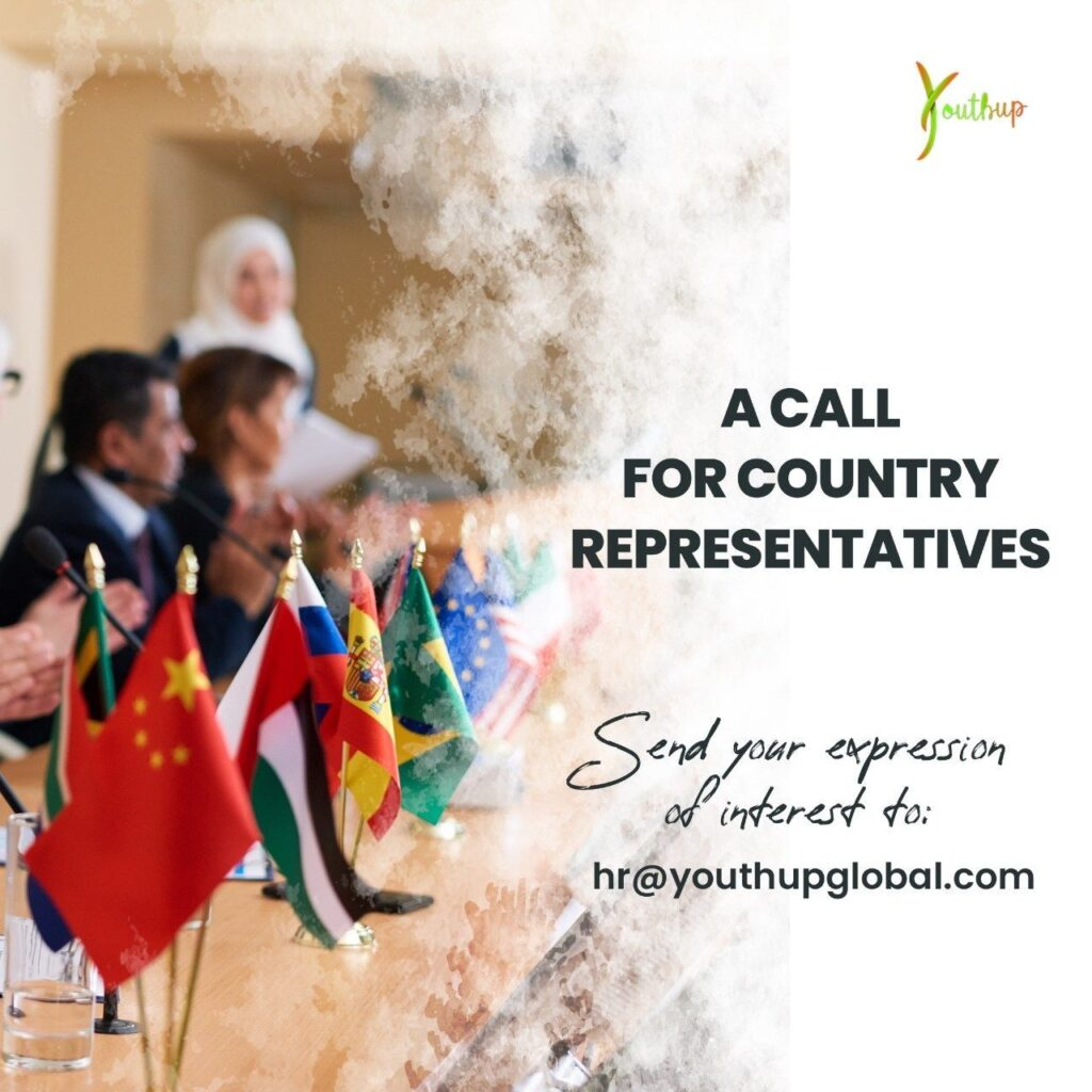 Youthup call for country representatives