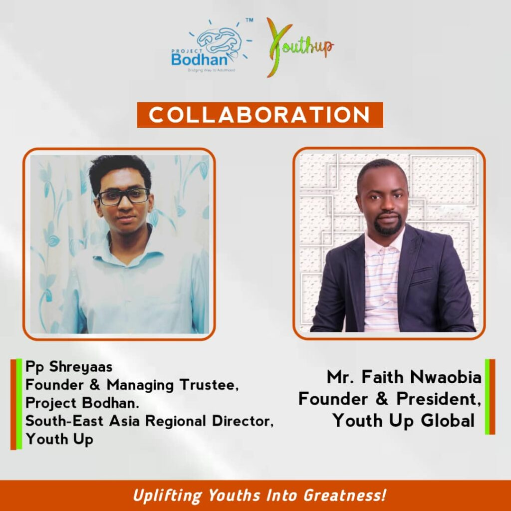 Project Bodhan Proudly Announces its 1st International Collaboration with YouthUp Global