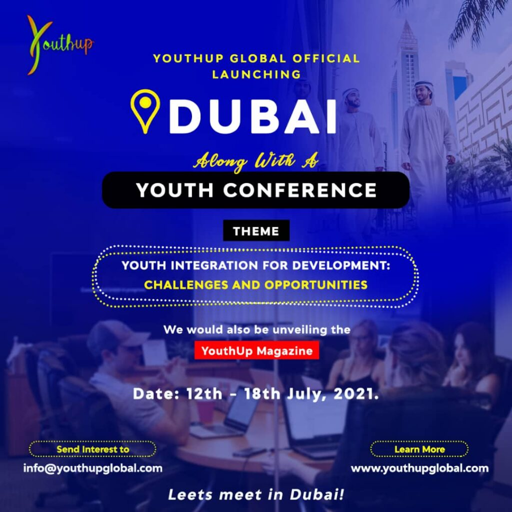 All Roads To Dubai: YouthUp Global Outreach 2021, Launches in Dubai