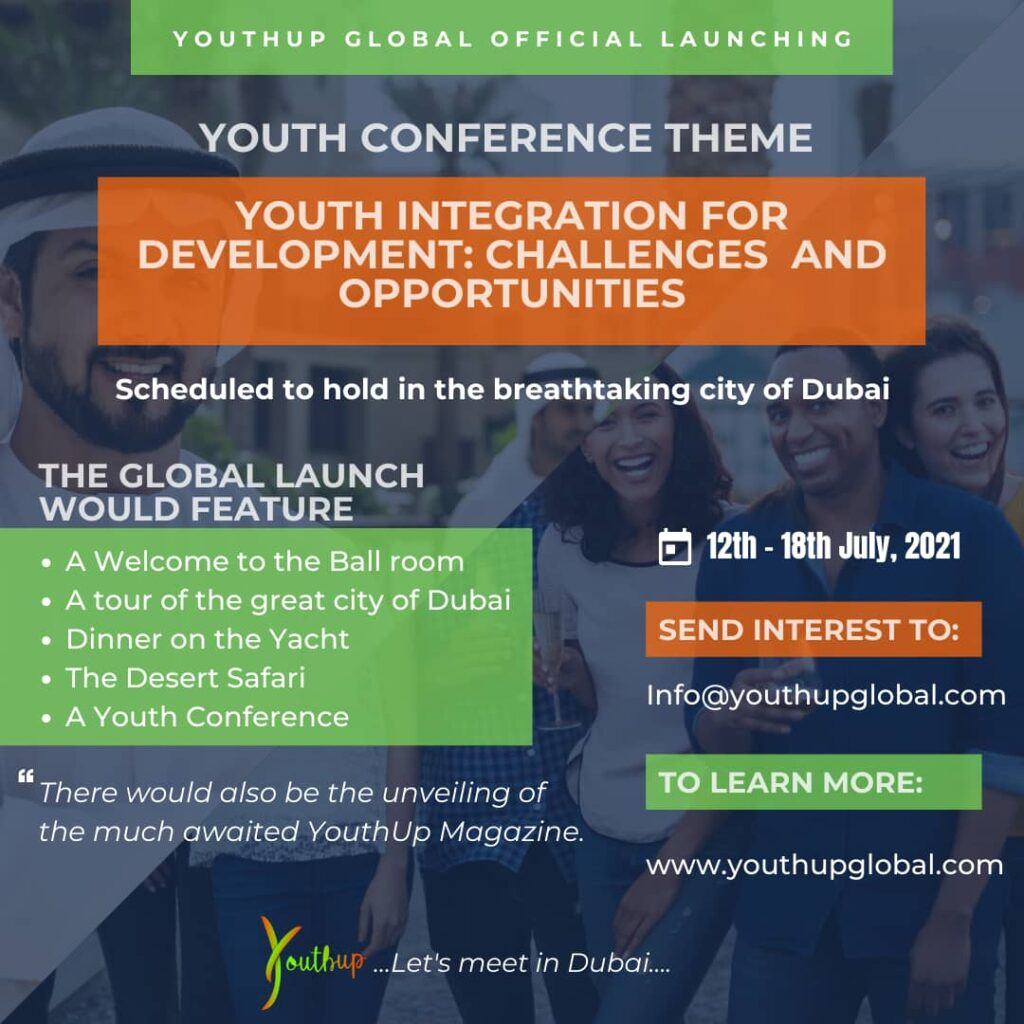 YouthUp Global Outreach Premieres in Dubai from 12th July through 18th July 2021